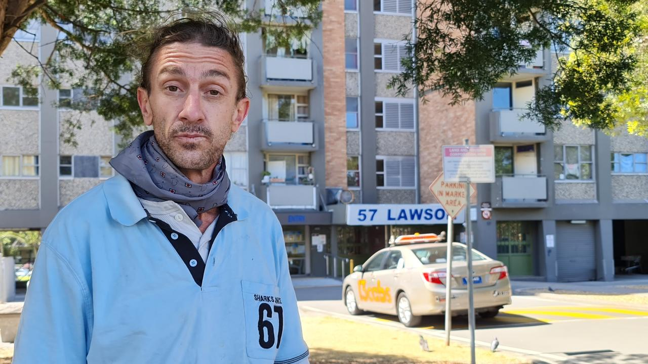 Lawson resident Jason Hutchins said the authorities had been secretive and unhelpful, just shoving a notice under people's doors and that it was impossible to isolate. Picture: Candace Sutton