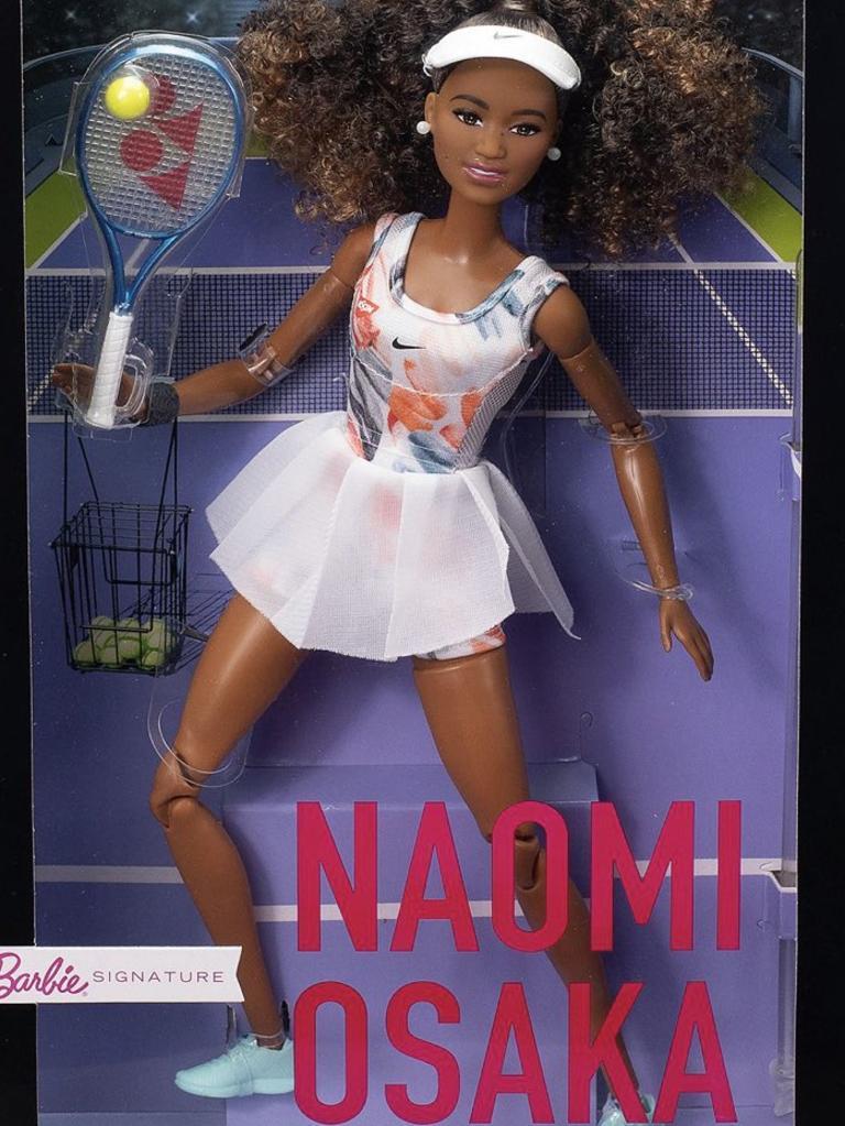 Naomi Osaka shared photos of her new Barbie on social media.