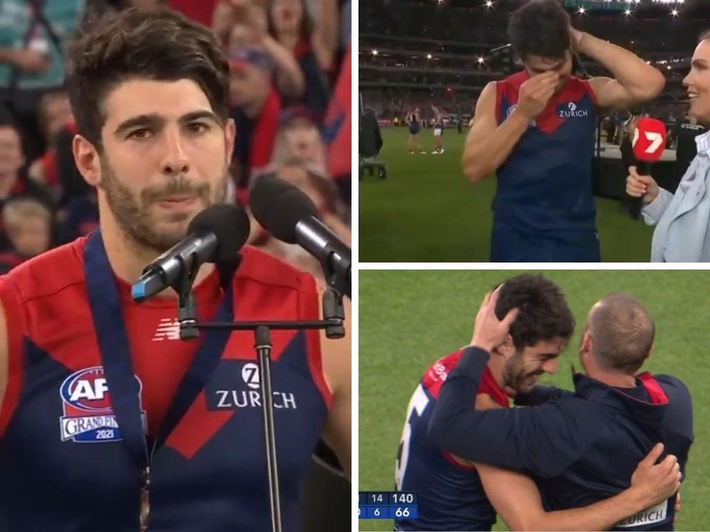 Christian Petracca after the game. Photo: Twitter, @7AFL.