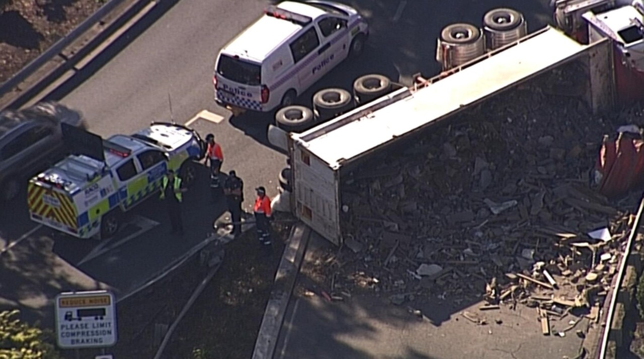 Truck rollover causes massive delays in Brisbane