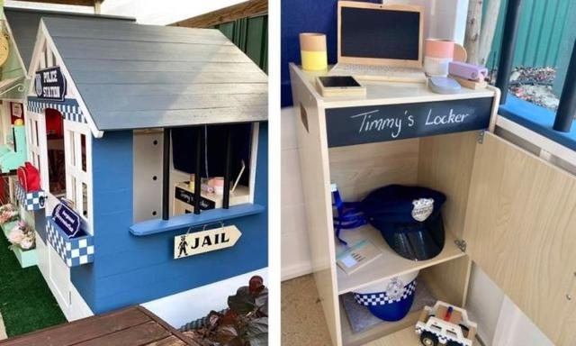 Mum creates an epic village for her son by hacking Kmart cubby houses