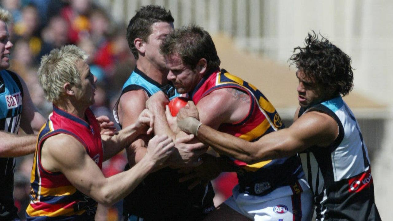 Mark Ricciuto and Josh Carr tussled both on and off the field …