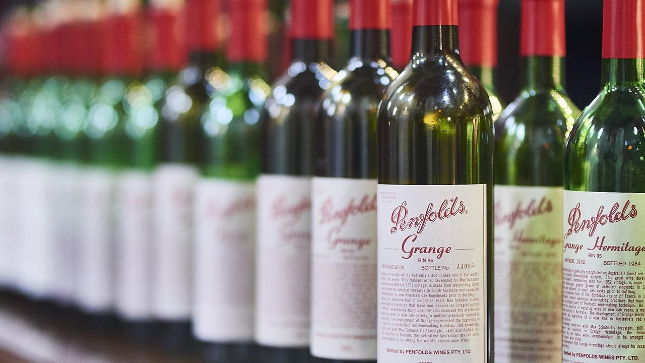Penfolds Grange, a high-end Adelaide shiraz, is a sought-after wine in China.