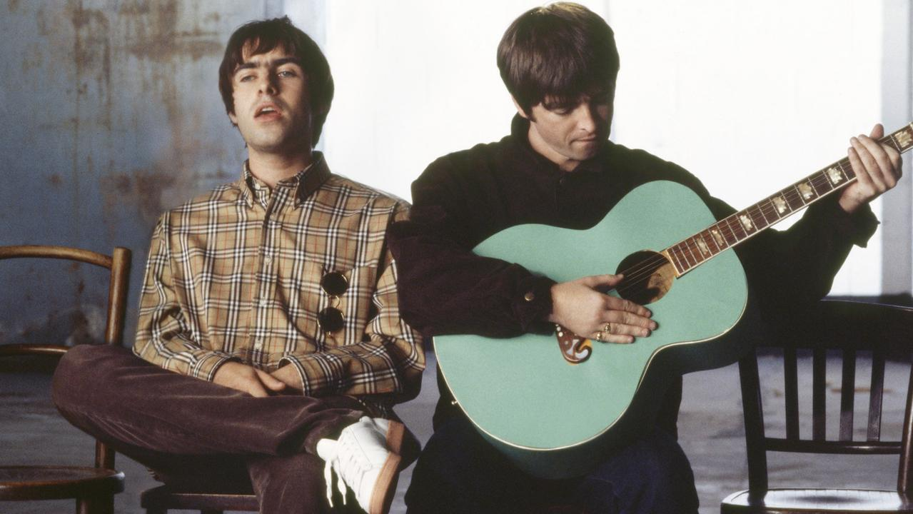 Liam and Noel Gallagher pictured at the height of their fame in 1995, after the release of Wonderwall. Picture: Jill Furmanovsky