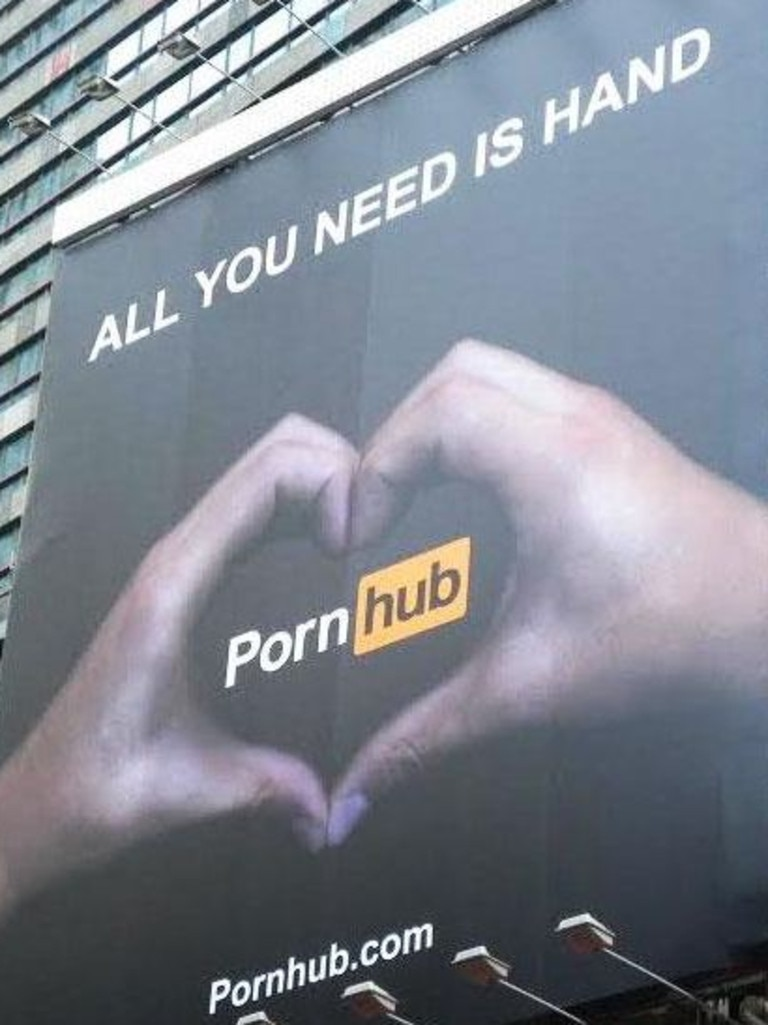 Pornhub has previously attracted attention through its risqué, winking advertisements.