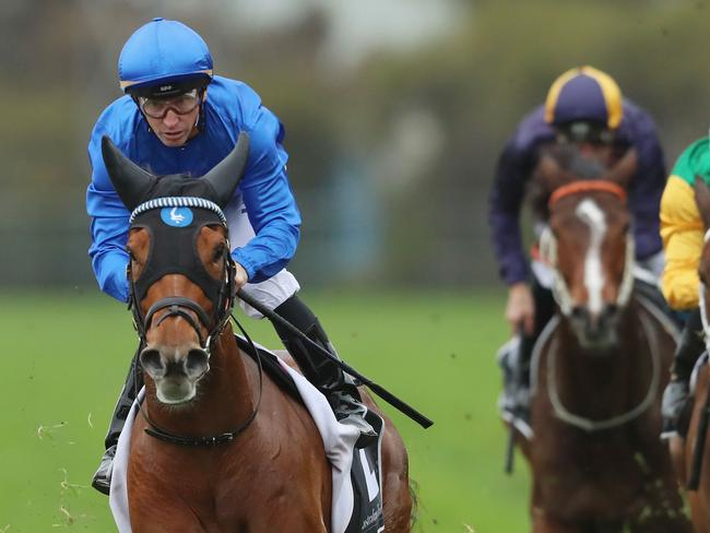 Home Of The Brave wins the Theo Marks Stakes. Picture: Getty Images