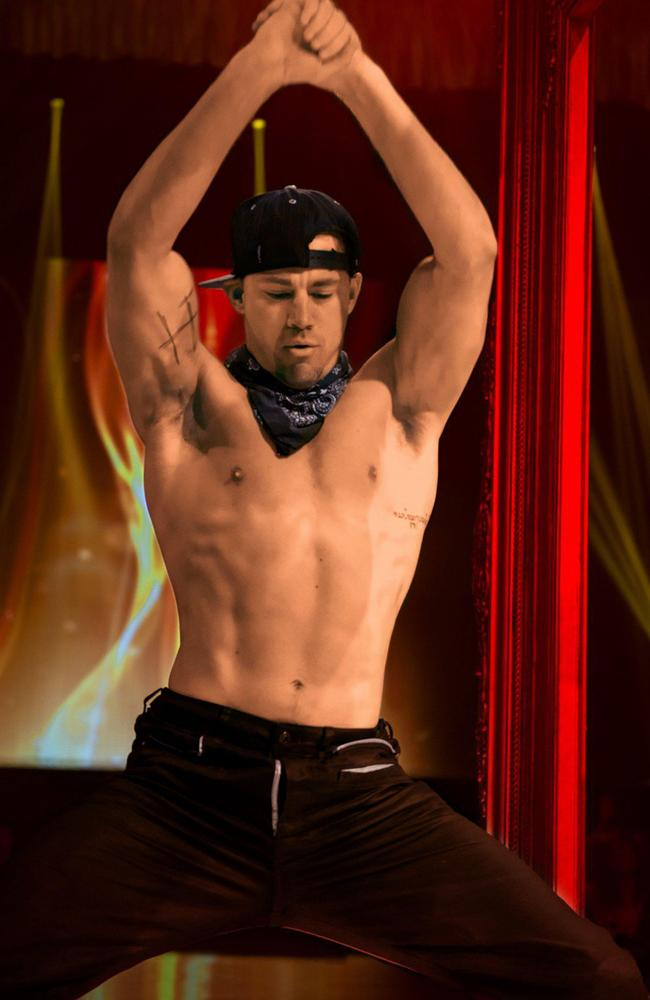 The real Channing Tatum in the Magic Mike movie. Picture: Supplied