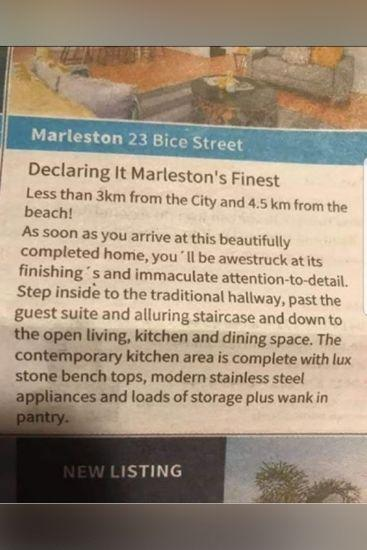 Potential home buyers were left in stitches after reading an Adelaide house listing. Source: Supplied