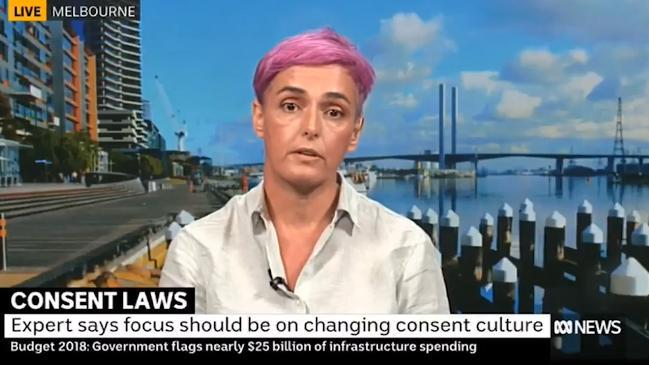 Woman believes parents should ask babies for consent to change nappy