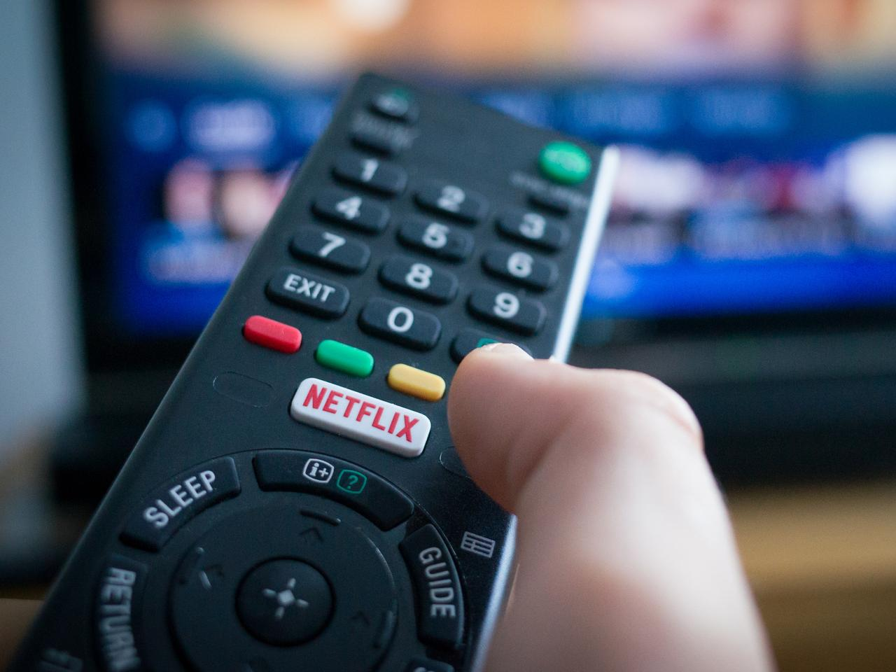 TV Remote Control with Netflix Button
