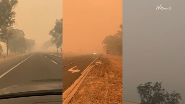 Victoria bushfires: Air quality plummets as smoke shrouds Wodonga in haze