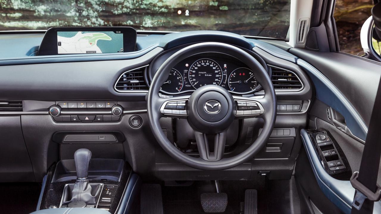Mazda's cabin is a class above the competition. Photos by Thomas Wielecki.