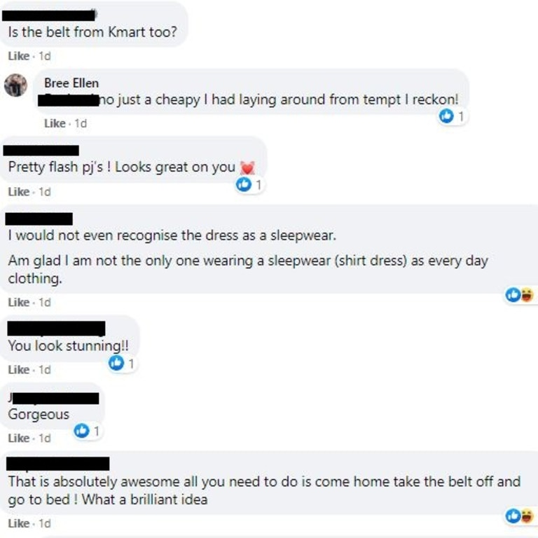 After sharing her unique creation to Facebook, hundreds of women commented, praising Bree for on her creativity. Picture: Facebook/IKEA, Kmart, Target, Big W, Aldi, etc