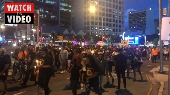 BLM protesters take to Brisbane streets