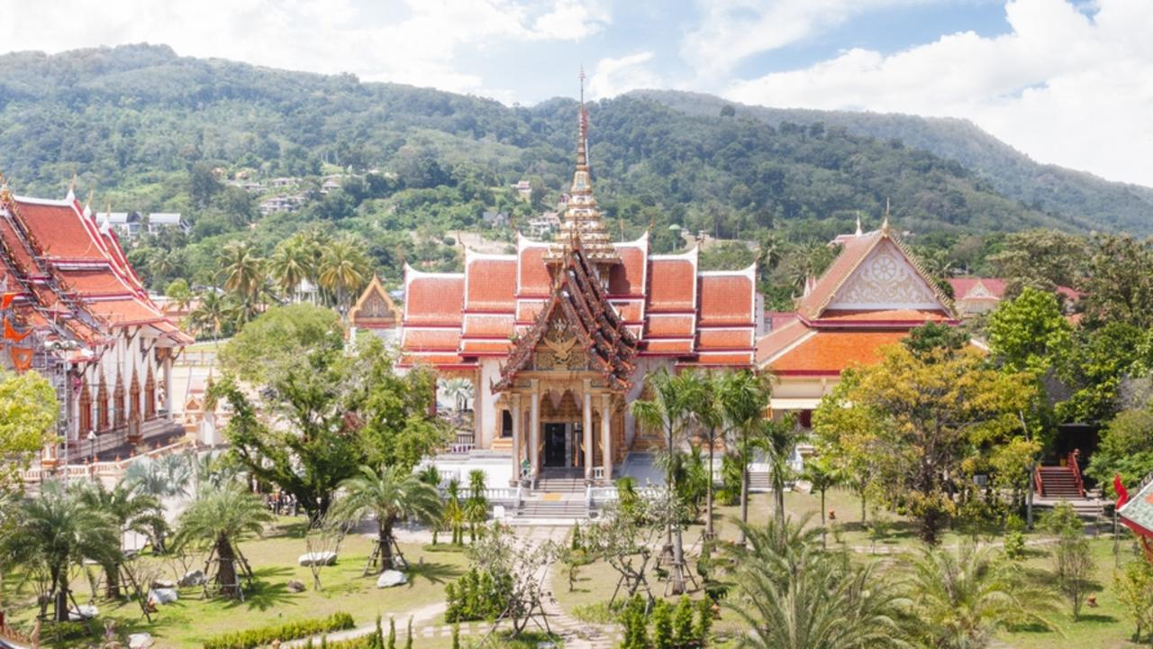 Aerial View Of Wat Chalong In Phuket, Thailand. Picture: iStock Cruise news, Phuket, shore bet, Andrea Black, Escape