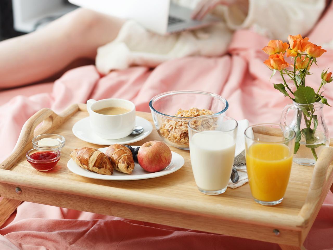 Breakfast served in bed