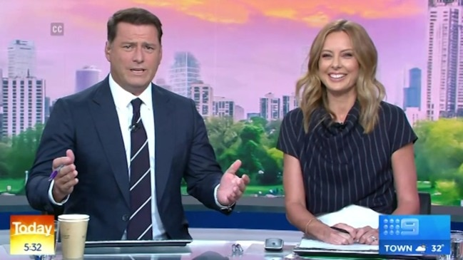 Karl's cheeky swipe at 'loser mates' (Today Show)