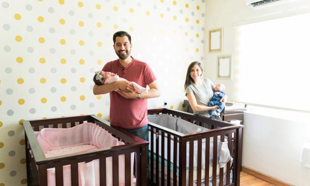 Twin baby sleep tips: Should my twins be in the same room or separated?