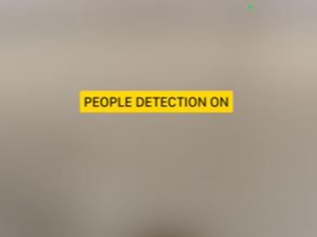 People detection uses the LiDAR sensor.