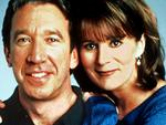 "1999 : Actors Tim Allen & Patricia Richardson in 1999 TV show ""Home Improvement""."