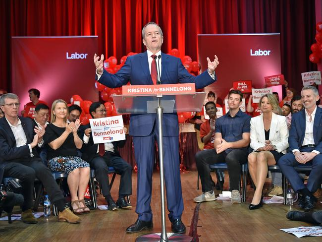 Bill Shorten made it clear to Bennelong voters a vote for Kristina Keneally is a vote against Malcolm Turnbull. Picture: Troy Snook/News Corp Australia