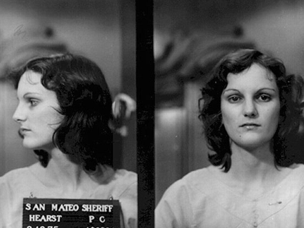 Patty Hearst after her arrest on bank robbery and gun charges. Picture: Supplied