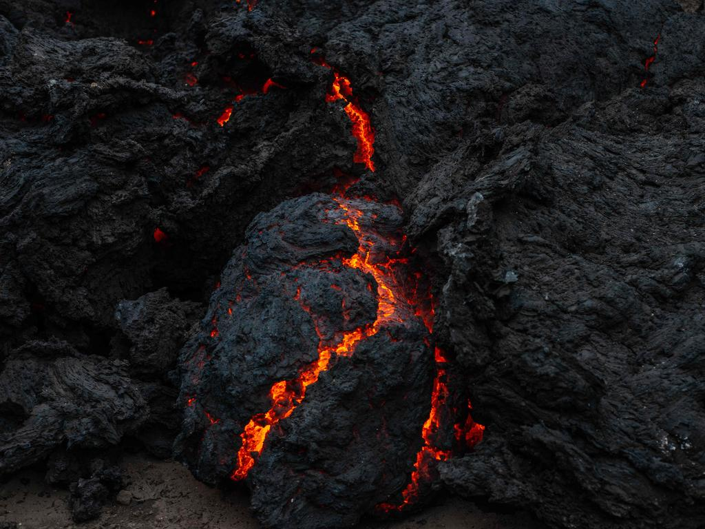 The smoldering lava from the Mount Nyiragongo eruption. Picture: Moses Sawasawa / AFP