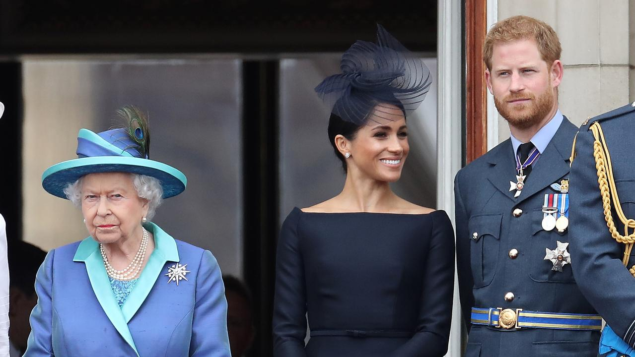 The Queen with Meghan and Prince Harry. (Photo by Chris Jackson/Getty Images)