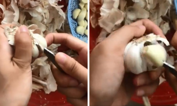 Garlic peeling hack saves your time and fingernails