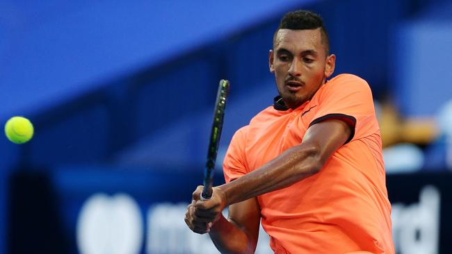 Rod Laver says Nick Kyrgios, still young, has the ability to be the best in the world. Picture: Getty Images