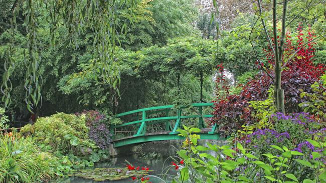 4/16Monet's bridge, Giverny, France Still in France but on a much smaller scale, the Japanese-style wisteria-laden bridge in the world's most famous impressionist's garden is not the original but is still sublime.