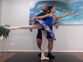 Melbourne stonemason John Sione and daughter Zi, 12, won Queensland Ballet's online dance competition, Ballet Beat Drop Challenge. For Kids News