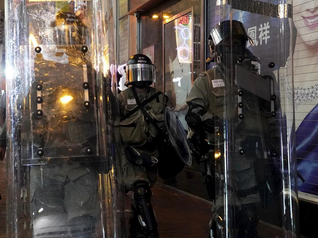Hong Kong riot police. Picture: AP
