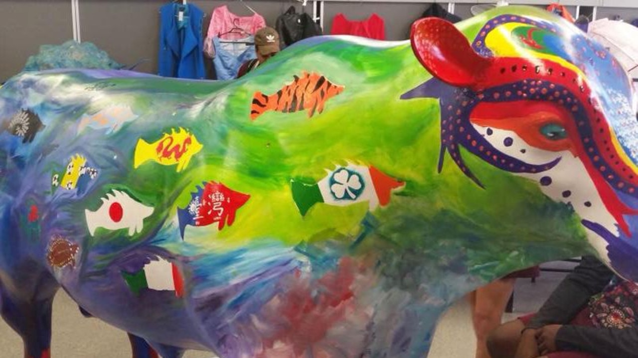 A papier-mache bull in a small regional Queensland town sparked a diplomatic incident with China.