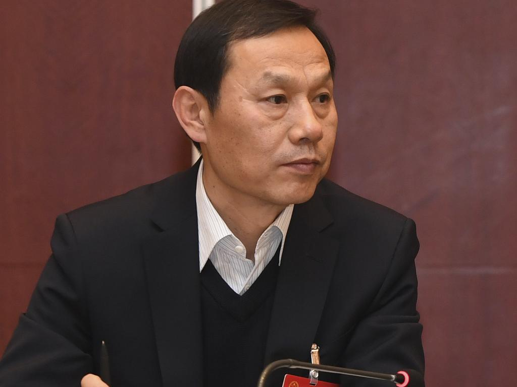 Ma Guoqiang, former party chief of Wuhan, was recently ousted from his official position in central Hubei province and its capital, Wuhan, the epicentre of the viral outbreak that has infected more than 45,000 people worldwide. Picture: Chinatopix via AP.