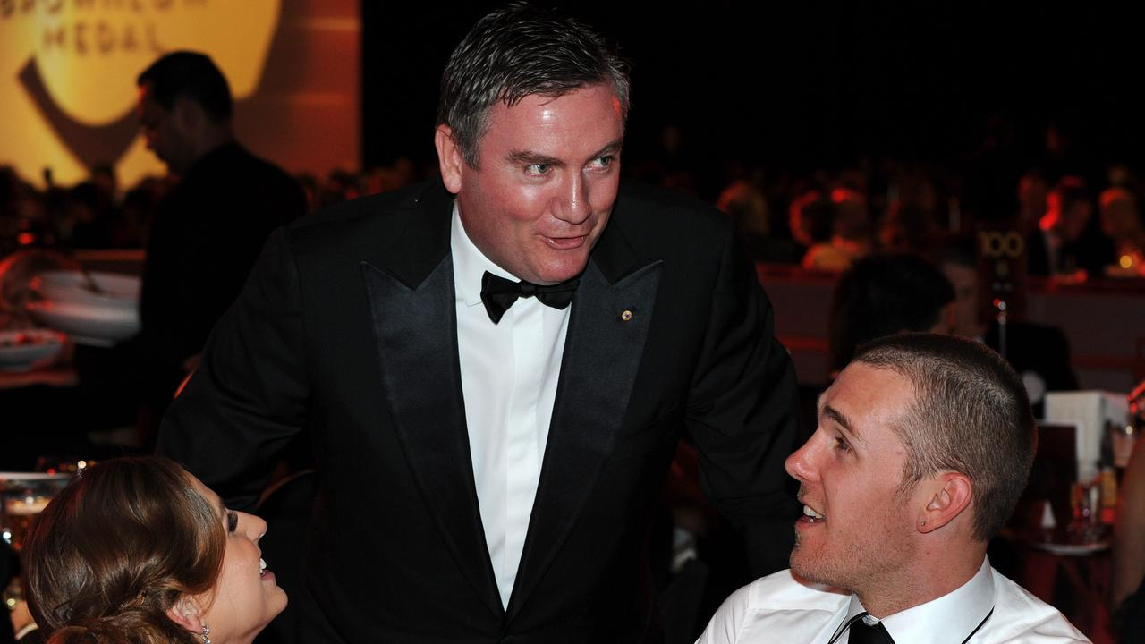 The moment Collingwood president Eddie McGuire tore strips off Dane Swan