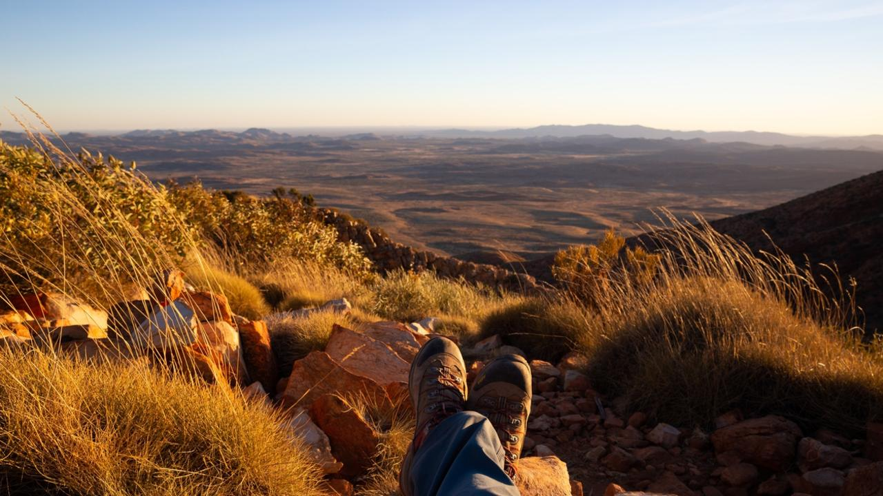 On the Larapinta Trail, these boots are not only made for walking, they're raring to go!