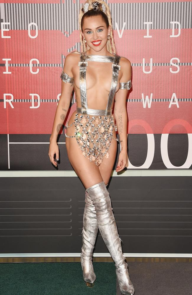 Miley Cyrus put herself out there (very out there) at the MTV VMAs in 2015. Picture: Getty Images