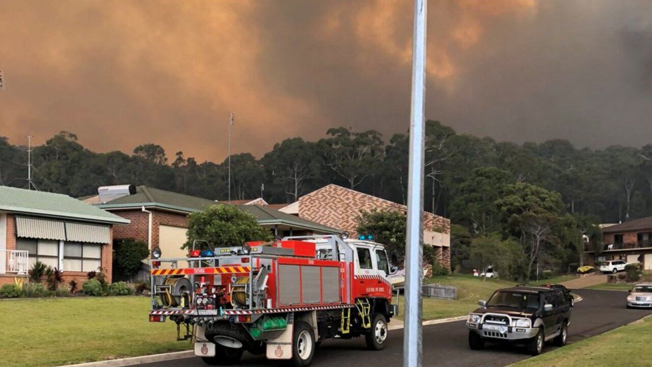 Displaced Tathra residents to assess the fire damage