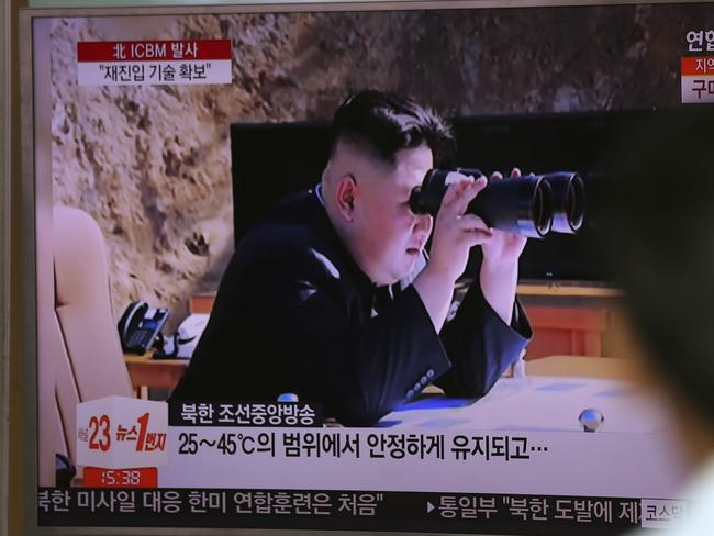 """North Korea's Kim Jong-un vowed his nation would """"demonstrate its mettle to the U.S."""" and never put its weapons programs up for negotiations. Picture: AP"""