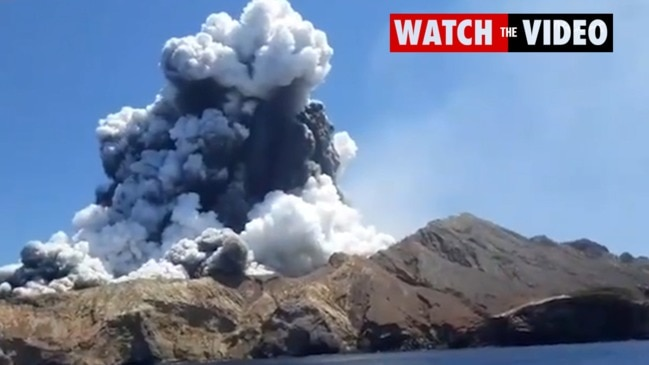 WATCH: Moment of the White Island volcano eruption