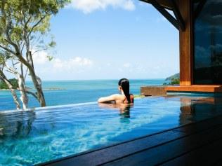 QUALIA, HAMILTON ISLAND, QLD:Choose between your own private plunge pool or soak in the views from the communal infinity edge pool at Hamilton Island's most exclusive resort. Picture: Qualia