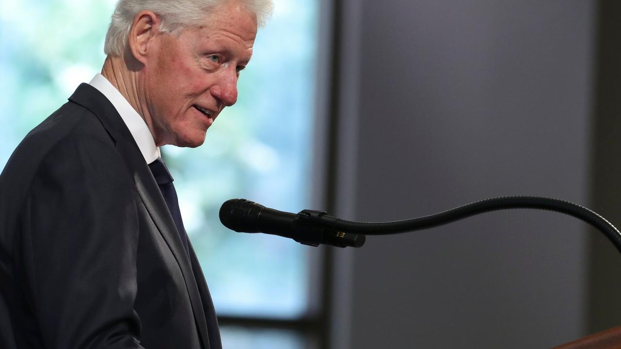 Former US president Bill Clinton. Picture: Alyssa Pointer/AFP