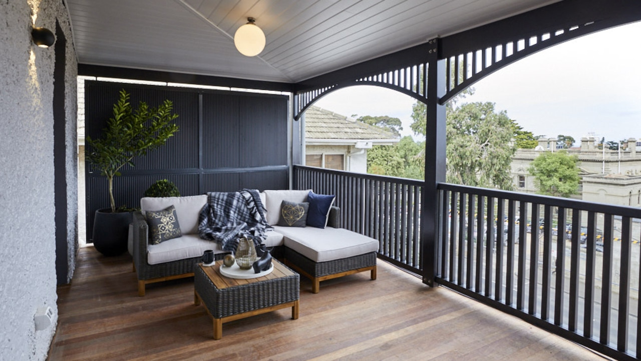 The upstairs verandah wasn't any better, with the judges also tearing it to sheds for lack of creativity. Picture: The Block