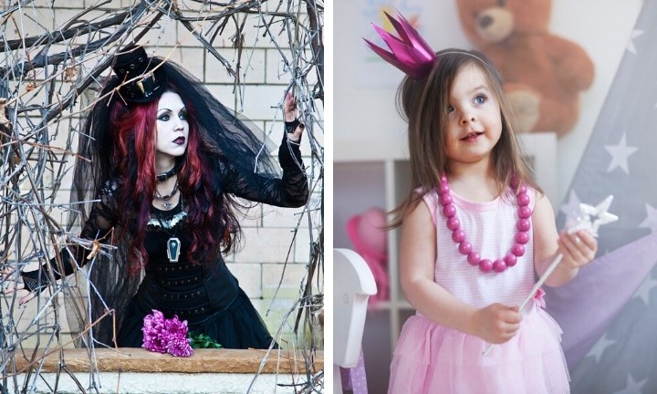 'I just love being a goth with a little pink princess'
