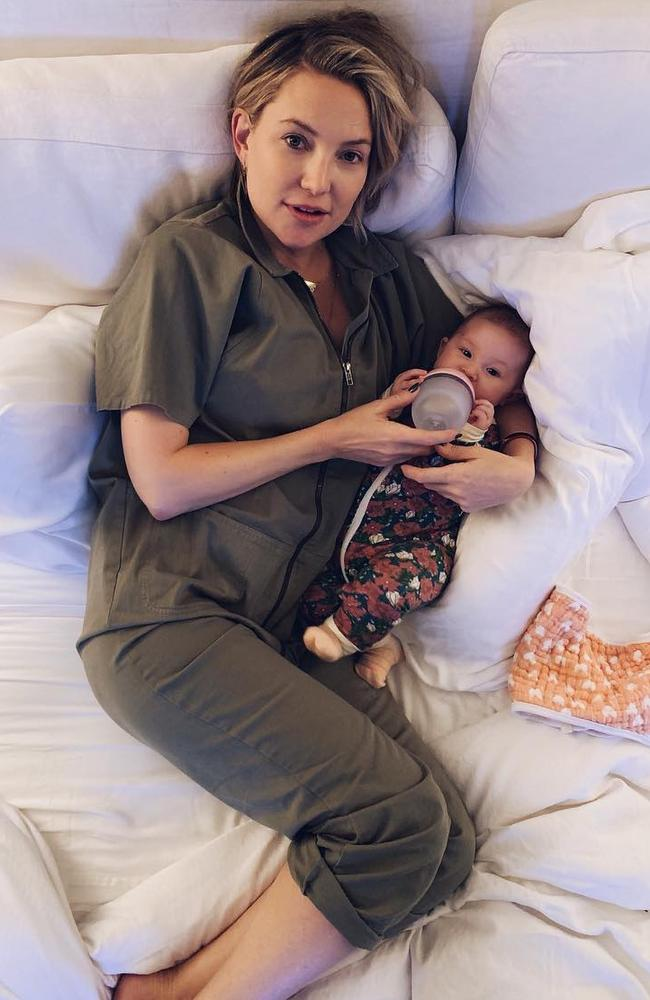 Since giving birth to her little girl she said it's tough finding a balance between work, life and family, but says it's all about investing in 'you' time. Picture: Instagram