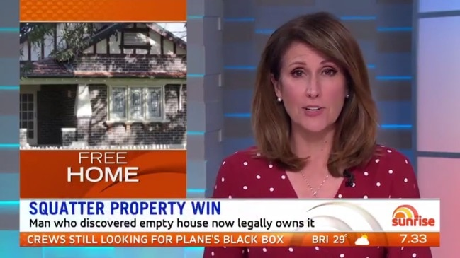 A Sydney man who discovered an empty $1.8m house now legally owns it (Sunrise)