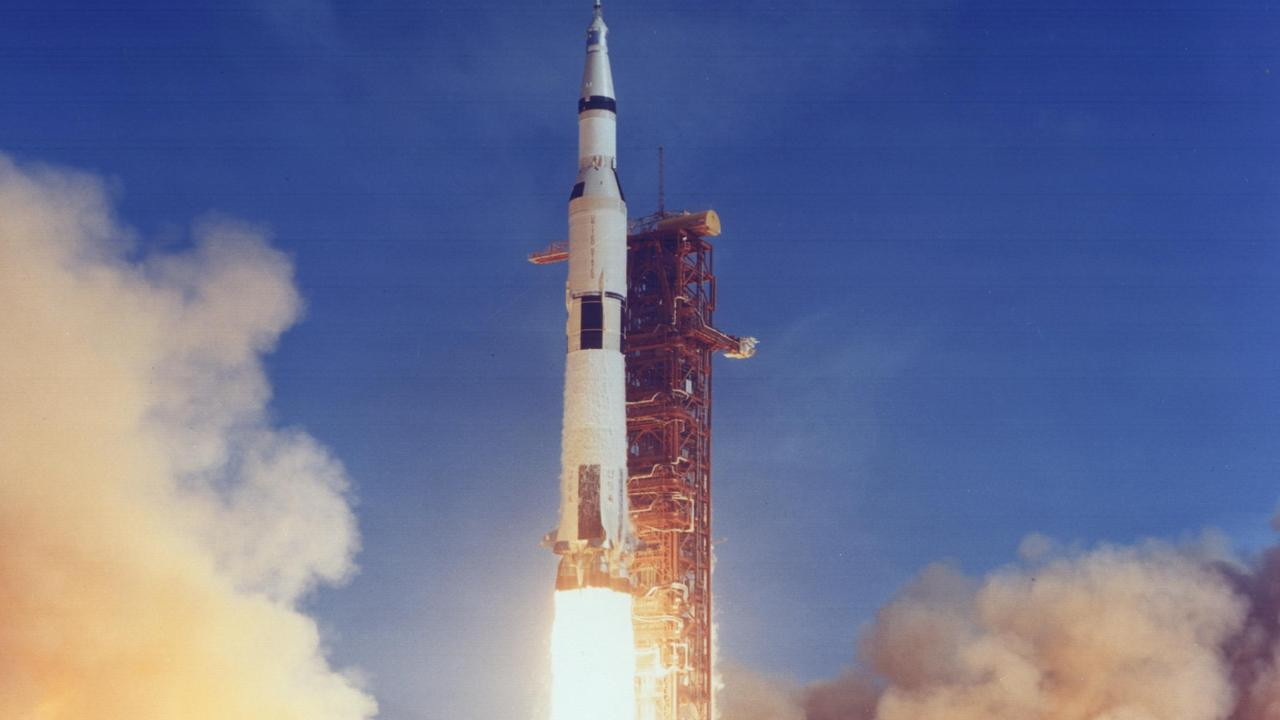 Apollo 11 launches for the moon on July 16, 1969. Picture: NASA