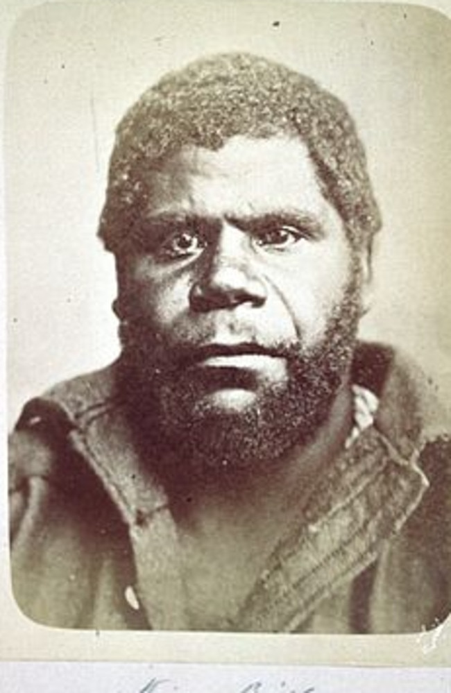 William 'King Billy' Lanne, the last male full blooded Aborigine in Tasmania, who died 150 years ago in 1869.