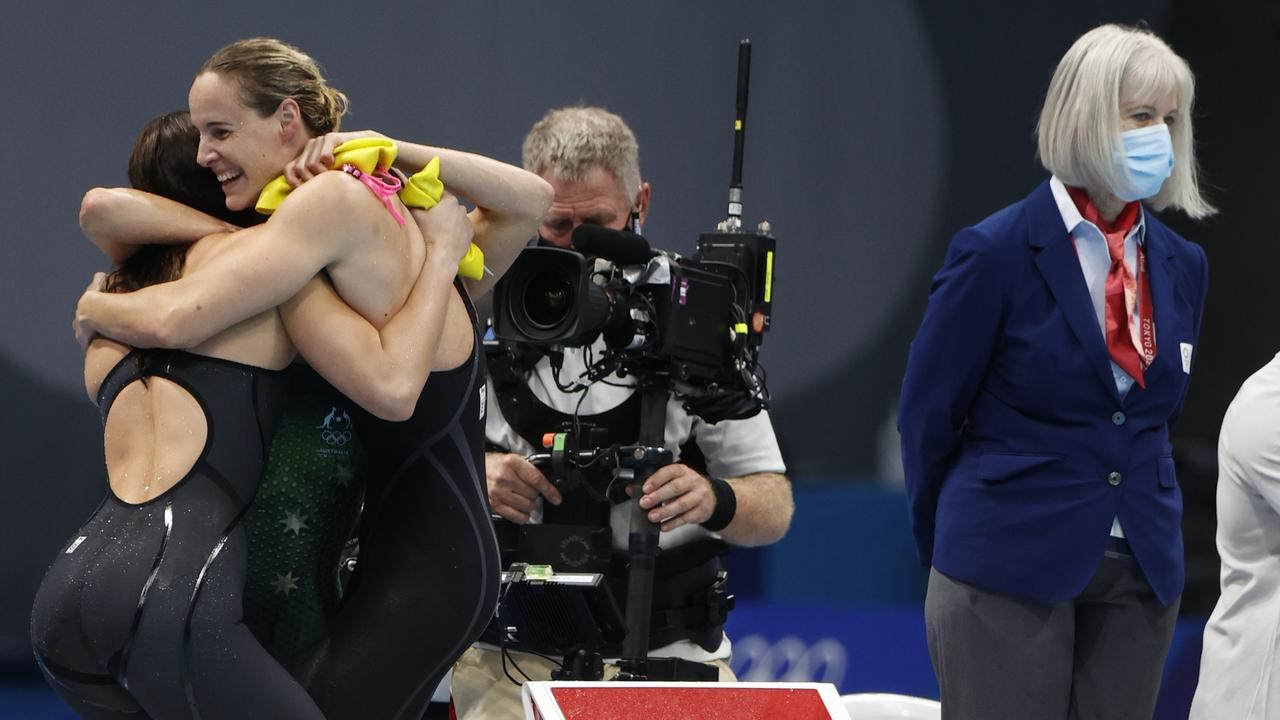 Bronte Campbell, Cate Campbell, Meg Harris and Emma McKeon won gold for Australia.